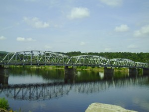 Photo of the St. John River that runs through the community of Perth-Andover, New Brunswick.